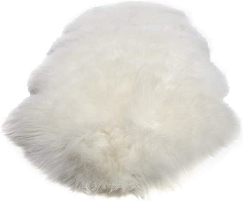 Double Pelt, New Zealand Premium Sheepskin, Ivory Rug, Thick Soft Luxurious Natural Wool, by Minidoka Sheepskin