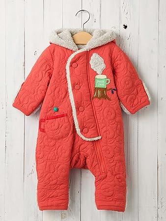 93bbce6784217 Petit jam プチジャム ベビー teatime ジャンプ スーツ 赤ちゃん ベビー服 防寒 男の子 女の子 アウター 70㎝ レッド