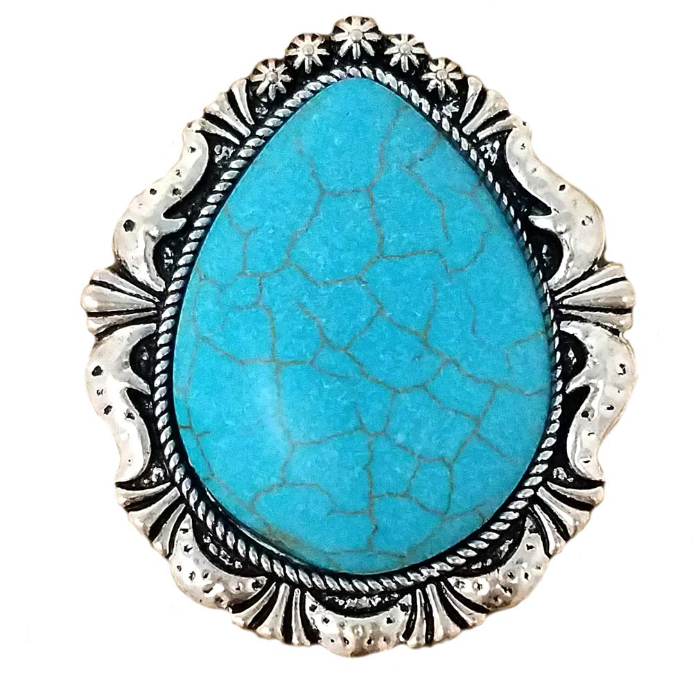Emulily Western Turquoise Teardrop Phone Holder(Grip) Self Adhesive Charm (Turquoise) Phone Holder Not Included by Emulily