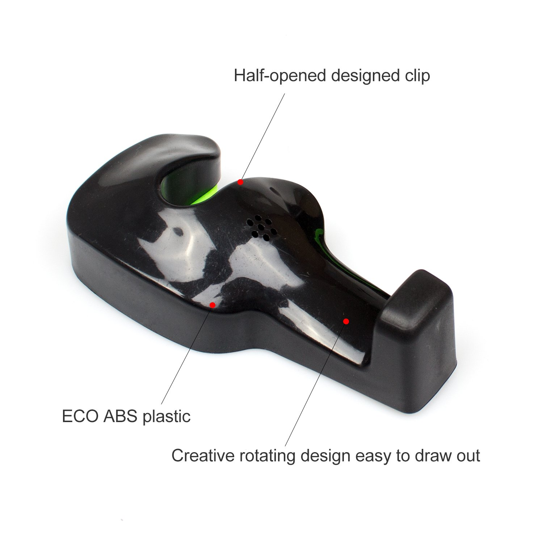 Car Back Seat Headrest Hanger,Universal Vehicle Headrest Hanger Holder Hook Organizers for Plastic Bags Handbags Purse Cloth Grocery by B-Sin Beige-Set of 4 5559021071