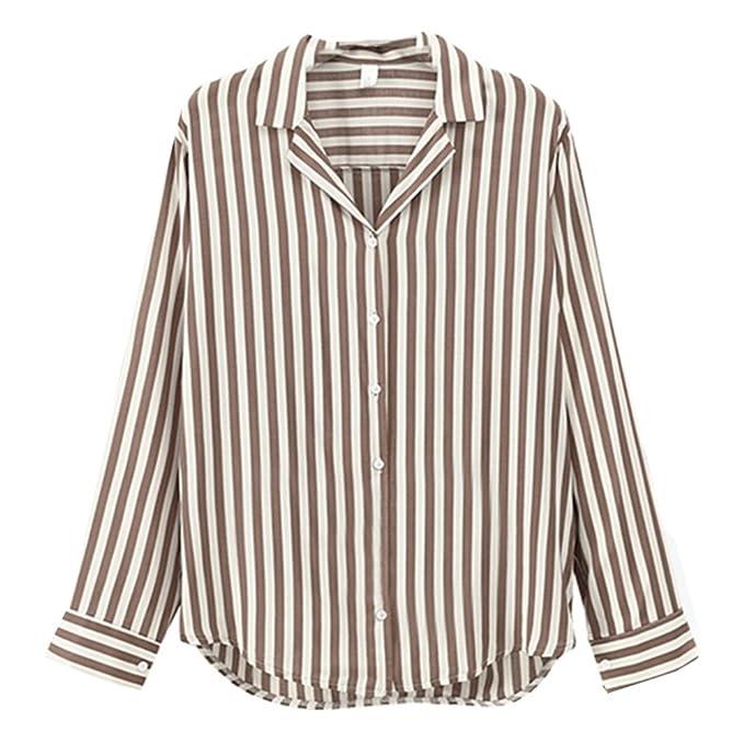 Dingcaiyi Camisas Mujer, Blusas para Mujer Moda Tops Camisetas de Manga Larga Blusas Tops Casuales
