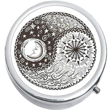 Amazoncom Yin Yang Sun Moon Medicine Vitamin Pill Box Health