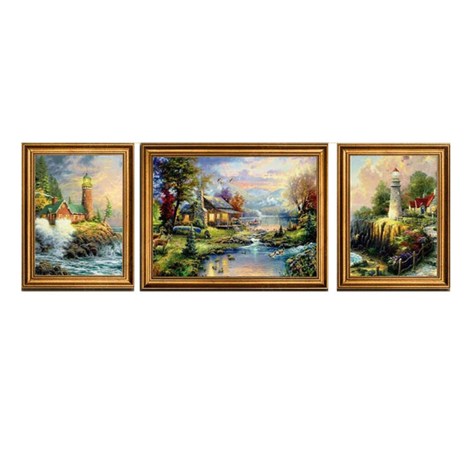 LUHSICE Large Christmas Painting with Diamonds Full Drill - Rural Scenery, (Round Drill 280x100cm) by LUHSICE
