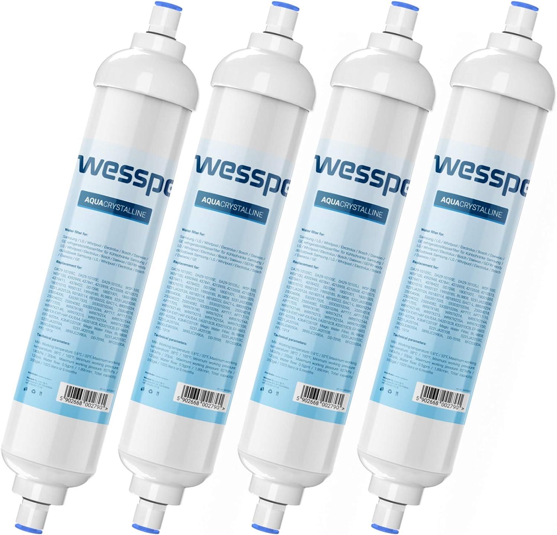 DA2910105J 5231JA2010C Wessper Filtro de agua para Frigor/ífico Samsung DA29-10105J HAFEX//EXP WSF-100 USC100 5231JA2010B 2 Unidades
