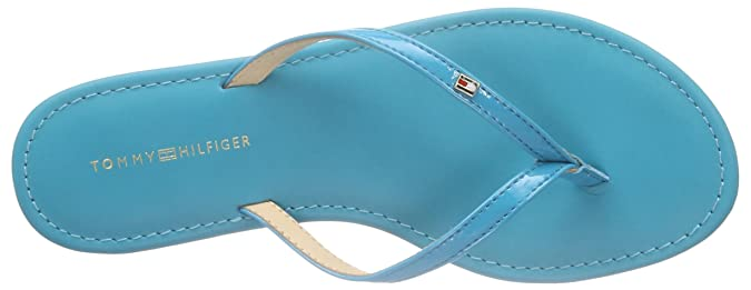 Tommy Hilfiger J1285ENNIFER 15P, Damen Zehentrenner, Blau (Lake Blue 497), 40 EU