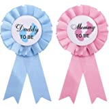2 Pcs Daddy and Mommy to Be Tinplate Badge Pin 'Mommy to Be' and 'Daddy to Be' Badge Pins Gender Reveal New Daddy Mom Ideal F