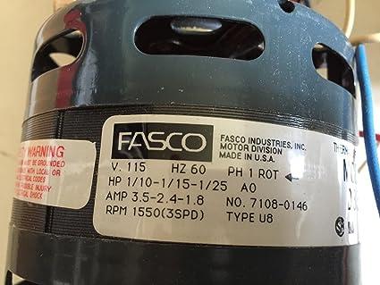 Amazon.com: NEW FASCO D336 REGAL BELOIT MOTOR 3.5AMP 1/10-1 ... on