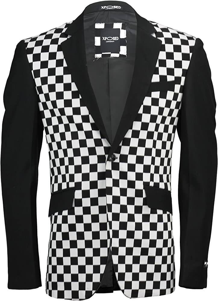 Para hombre colores blanco y negro de Zoe Atwell Blazer de boda ...