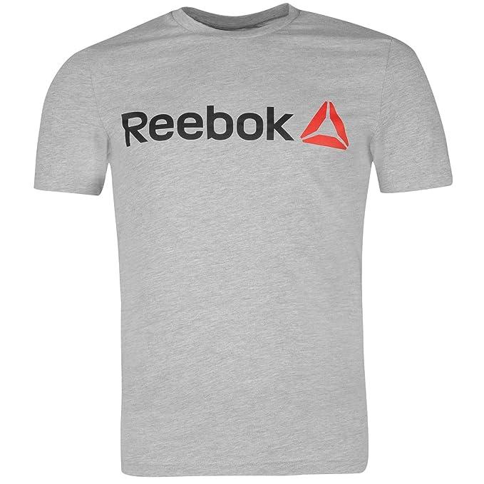 Reebok Delta Logo Camiseta para hombre, cuello redondo y manga ...