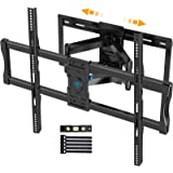 Full Motion TV Wall Mount for 37-100 Inch Flat/Curved TVs with Max VESA 800x600mm Sliding Articulating TV Mount for TV Center