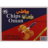 Chips oman Chips Oman Chilli Flavour Potato Chips, 15 gm (Pack of 50)