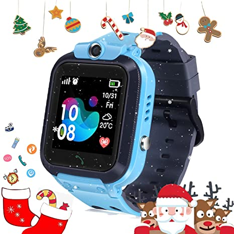 DUIWOIM Kid GPS Smart Watch Waterproof Call Watch Kids Two-Way Call Phone Watch SOS Camera Voice Chat Smartwatch Touchscreen Game Smart Watch for ...