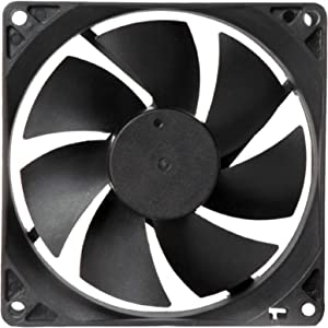 """MAA-KU DC Axial Case Cooling Fan. Size : 3.54"""" inches (9x9x2.5cm), (90x90x25mm), Supply Voltage : 24VDC, Material : Plastic P.B.T, Color : Black."""