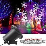 ALAFAT Proiettore Fiocchi di Neve, Faretti LED illuminazione Luci Natale Esterno , per decorazioni all'aperto di Natale/Halloween/Birthday/Party/Wedding(White Snowflake)