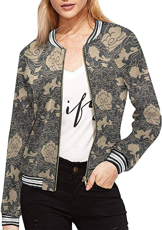 INTERESTPRINT Womens Arrows and Dots in Ethnic Style Cute Colorful Pattern for Kids Jacket Outwear