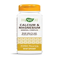 Nature's Way Calcium & Magnesium Mineral Complex, 750 mg per serving, 250 Capsules