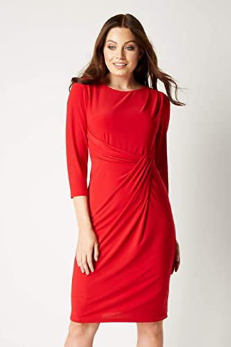 Roman Originals damska sukienka z dżerseju z rękawami 3/4, kolor bakłażan: Odzież