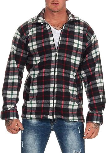 Camisa térmica para Hombre Chaqueta de leñador a Cuadros Chaqueta de Trabajo Chaqueta de Franela Chaqueta a Cuadros cálida y Suave: Amazon.es: Ropa y accesorios