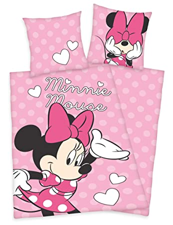 Herding Disneys Minnie Mouse Maus Bettwäsche 80x80 135x200cm 100