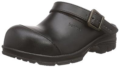 Sanita Workwear Unisex-Erwachsene San-Duty Open-SB Clogs, Schwarz (Black