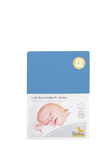 pinolino 540002 1d doppelpack spannbetttuch fur kinderbetten blau