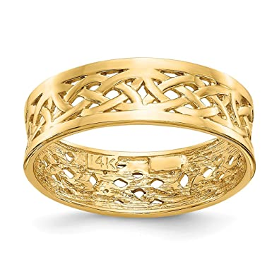 Amazoncom IceCarats 14k Yellow Gold Irish Claddagh Celtic Knot