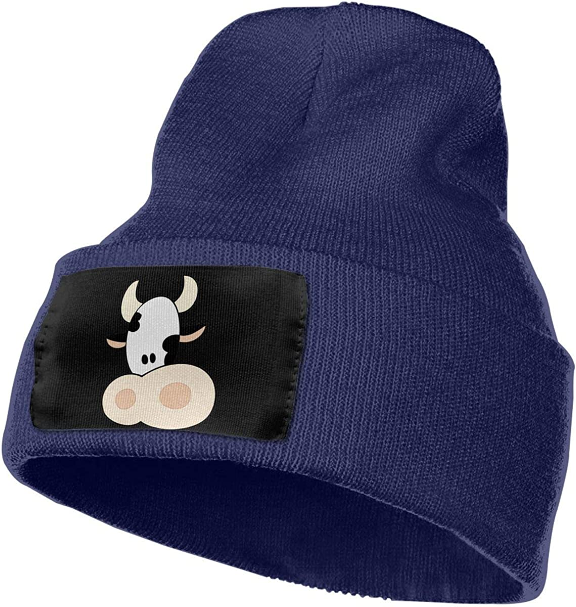 Funny Cow Face Original Skull Beanie Mens and Womens 100/% Acrylic Knitting Hat Cap