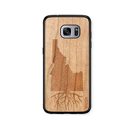 Wooden Phone Case Idaho Roots In American Cherry Compatible With Galaxy S7 Edge Samsung Galaxy S7 Edge