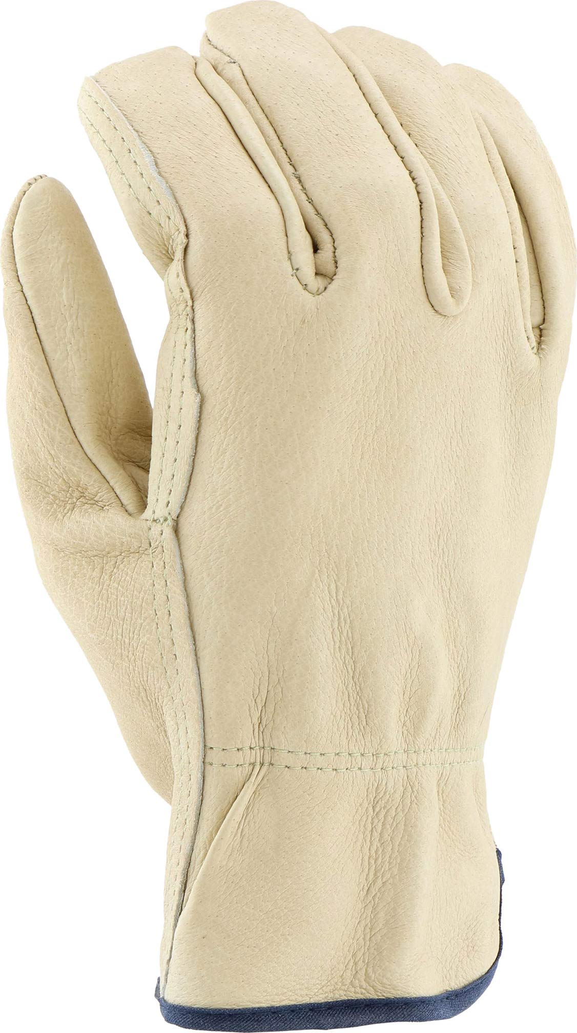 West Chester 994 Select Grain Pigskin Leather Driver Work Gloves: Straight Thumb, Large, 12 Pairs by West Chester (Image #7)