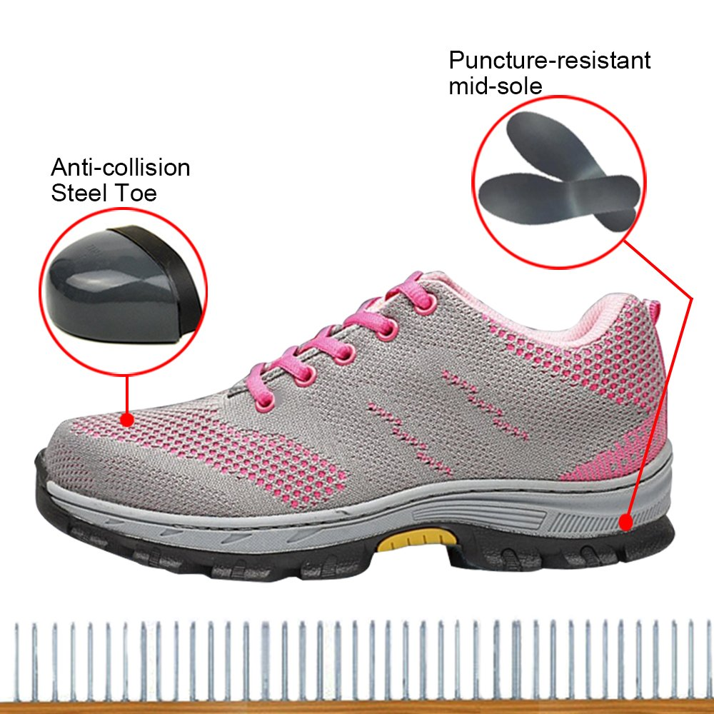 Optimal Women's Safety Shoes Work Shoes Protect Toe Shoes … by Optimal Product (Image #3)