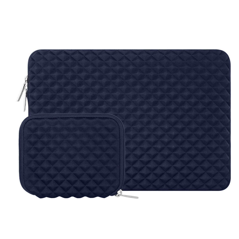 Azul Caliente MOSISO Funda Protectora Compatible con 13-13.3 Pulgadas MacBook Air//MacBook Pro Retina//2019 Surface Laptop 3//2//Surface Book 2,Estilo Diamante Agua Repelente Bolsa con Peque/ño Caso