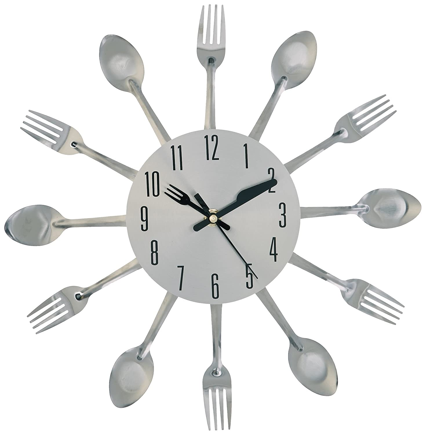 Amazon kole kitchen cutlery wall clock home kitchen amipublicfo Image collections