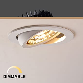 OBSESS 12W 4 Inch LED Ceiling Light Downlight Spotlight Recessed Lighting  Fixture Adjustable Gimbal Downlight