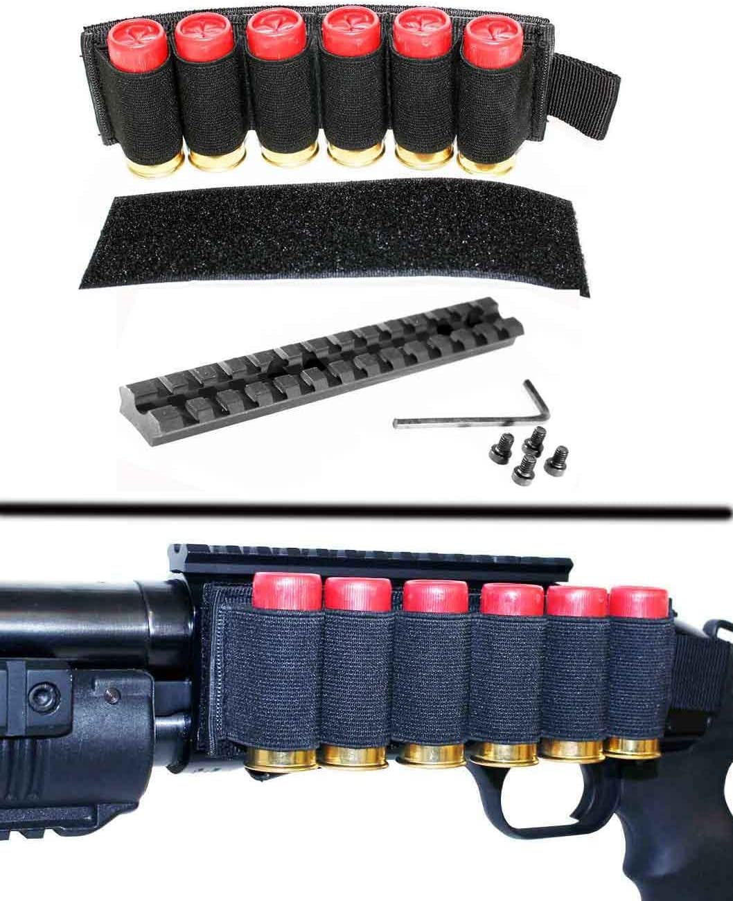NcSTAR Universal Shotgun 12ga 4 or 6 Shot Shell Black Aluminum Side Saddle NEW