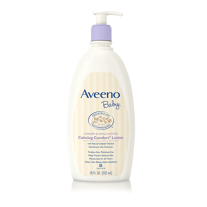 Aveeno Baby Calming Comfort Moisturizing Lotion, Lavender & Vanilla, 18 Oz. 381371162628