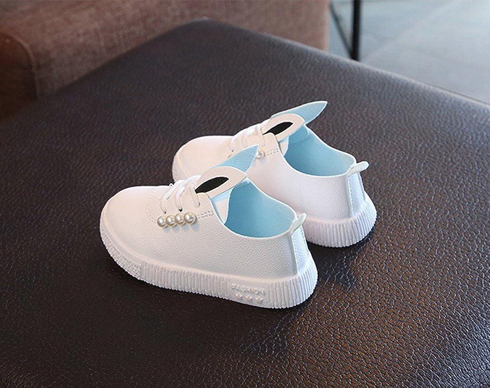 Lurryly Children Baby Girls Pearls Sneaker Cartoon Soft Anti-slip Single Shoes 0-6 T