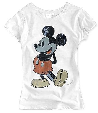 berühmte Designermarke Ausverkauf Vielzahl von Designs und Farben Mickey Mouse T-Shirt Damen Rundhals Damenshirt