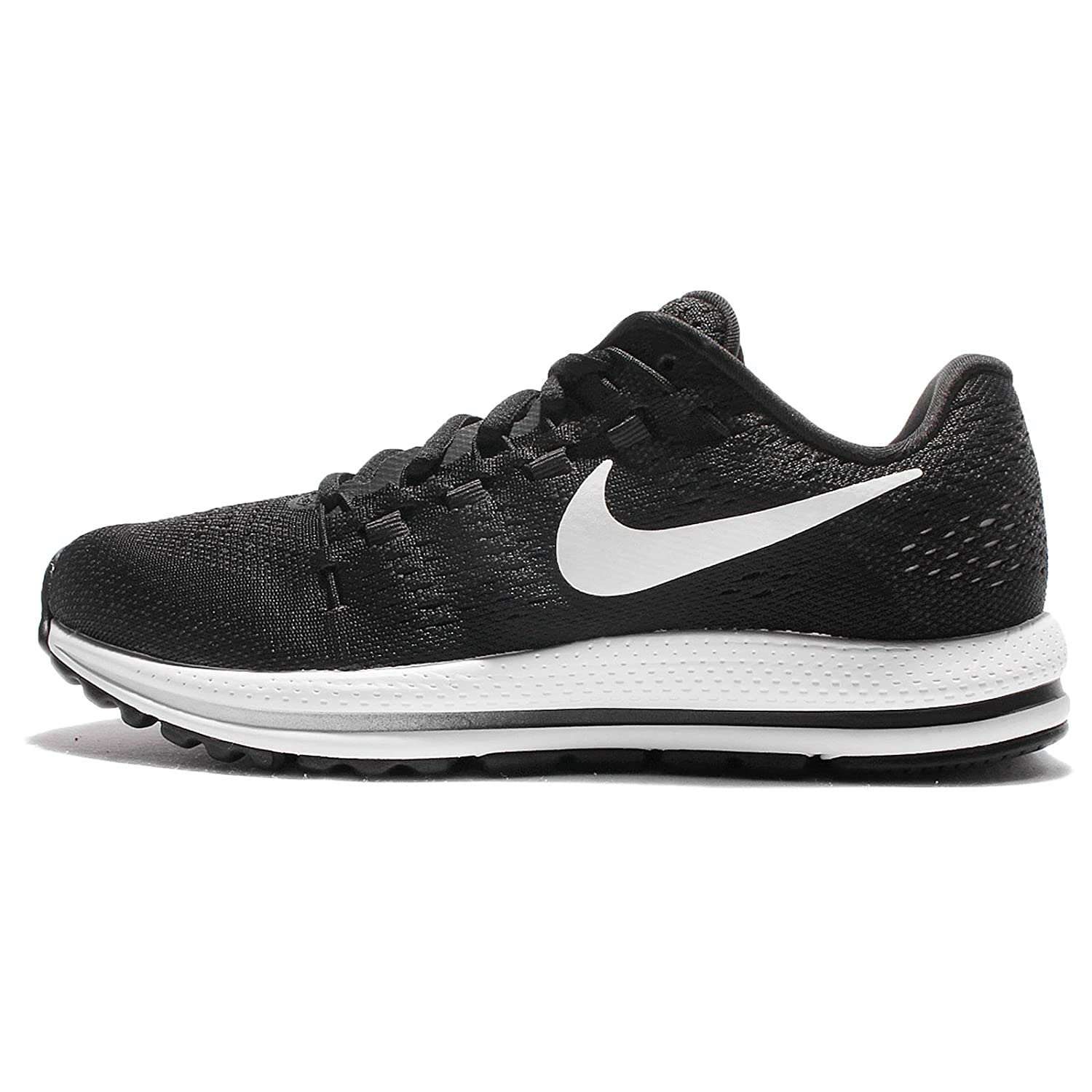 Nike Women's Women's Air Zoom Vomero 12 Athletic Shoes BlackWhiteAnthracite (10.5M)