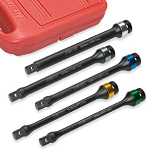 "Neiko 02450A 1/2"" Drive Torque Limiting Extension Bar Set, Cr-Mo Steel 