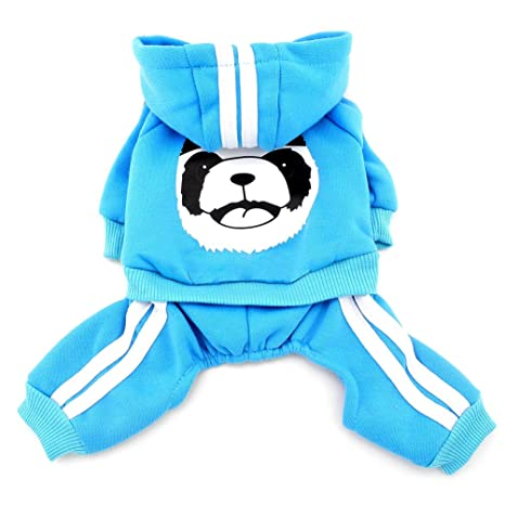 smalllee_lucky_store Chándal para Perro, con Capucha, Color Azul ...