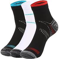 VBIGER 1-3 pares Calcetines de Compresión Deportivos Running para hombres y mujeres