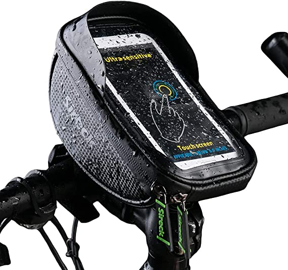 Kacniohen Bicycle Bag Touch Screen Bicycle Touch Screen Phone Holder Cycling Sundries Organizer Bike Storage Bag