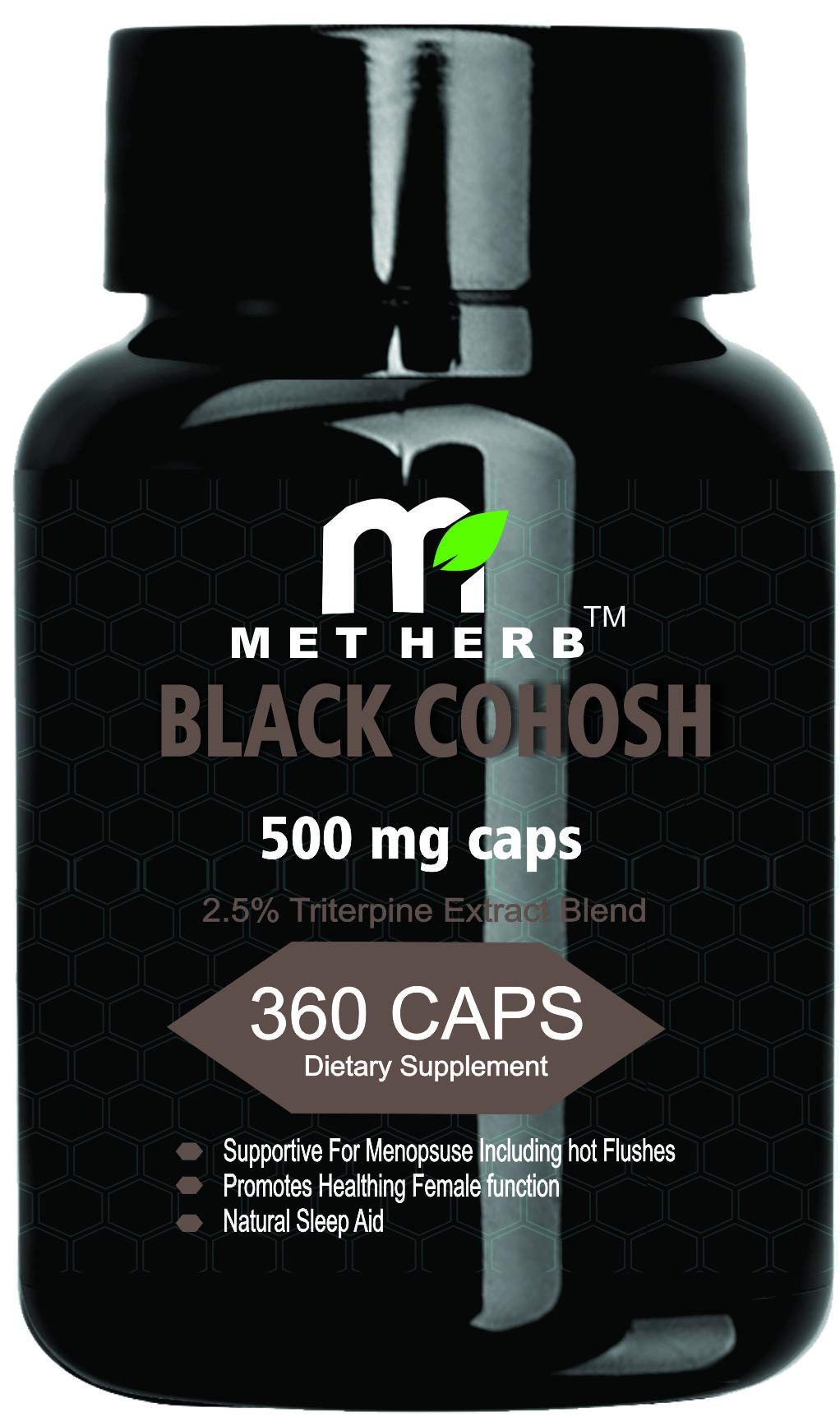 Black Cohosh (2.5% Triterpine) Extract 500mg 360 Capsule