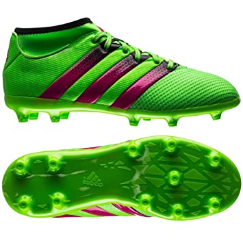 0775632a75eb ... order adidas performance ace 16.3 primemesh fg ag junior soccer shoe  kids solar green a9b4e d7c69