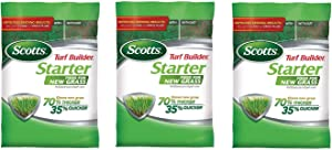 Scotts 21605 Lawn Food for New Grass, 5,000-sq ft (Not Sold in Pinellas County, FL) 5M Turf Builder Starter, 5,000 sq (Three Pack)