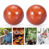 Balle de massage, balles d'exercice Baoding de 5 cm Balle de relaxation en bois pour massage en bois (5CM)