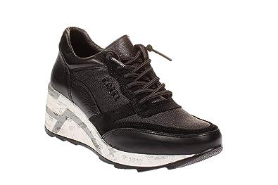 Cetti C1115 SRA Damen Schuhe Plateau Sneaker Space Negro