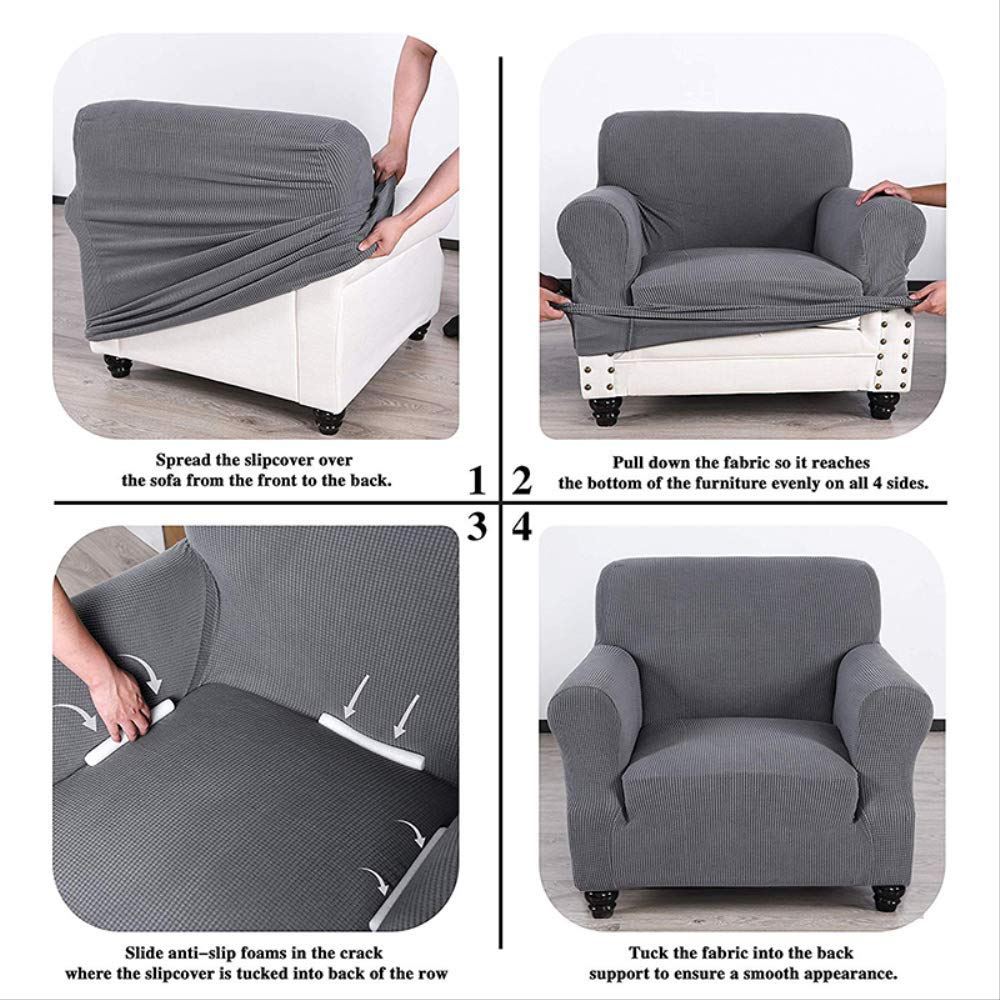 KBWL GDMZ Fashion Living Jacquard Juego de sillones de sofá ...