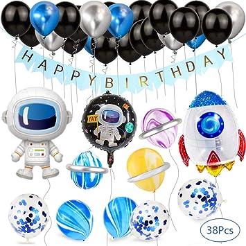 CHUER Decoración Cumpleaños de Globos, Happy Birthday Banner ...
