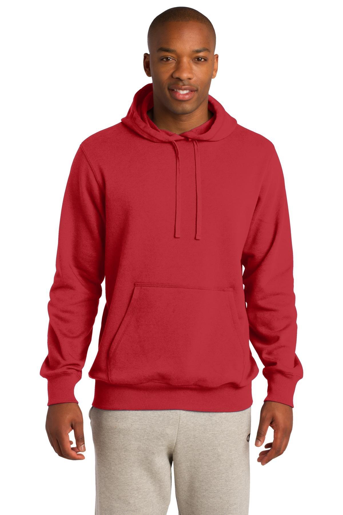 Sport-Tek Pullover Hooded Sweatshirt. - Small - True Red by Sport-Tek